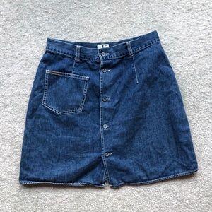 Calvin Klein denim skirt.